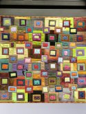 Square Dance - one panel of a three panel quilt by Wendy Hill and Pat Pease